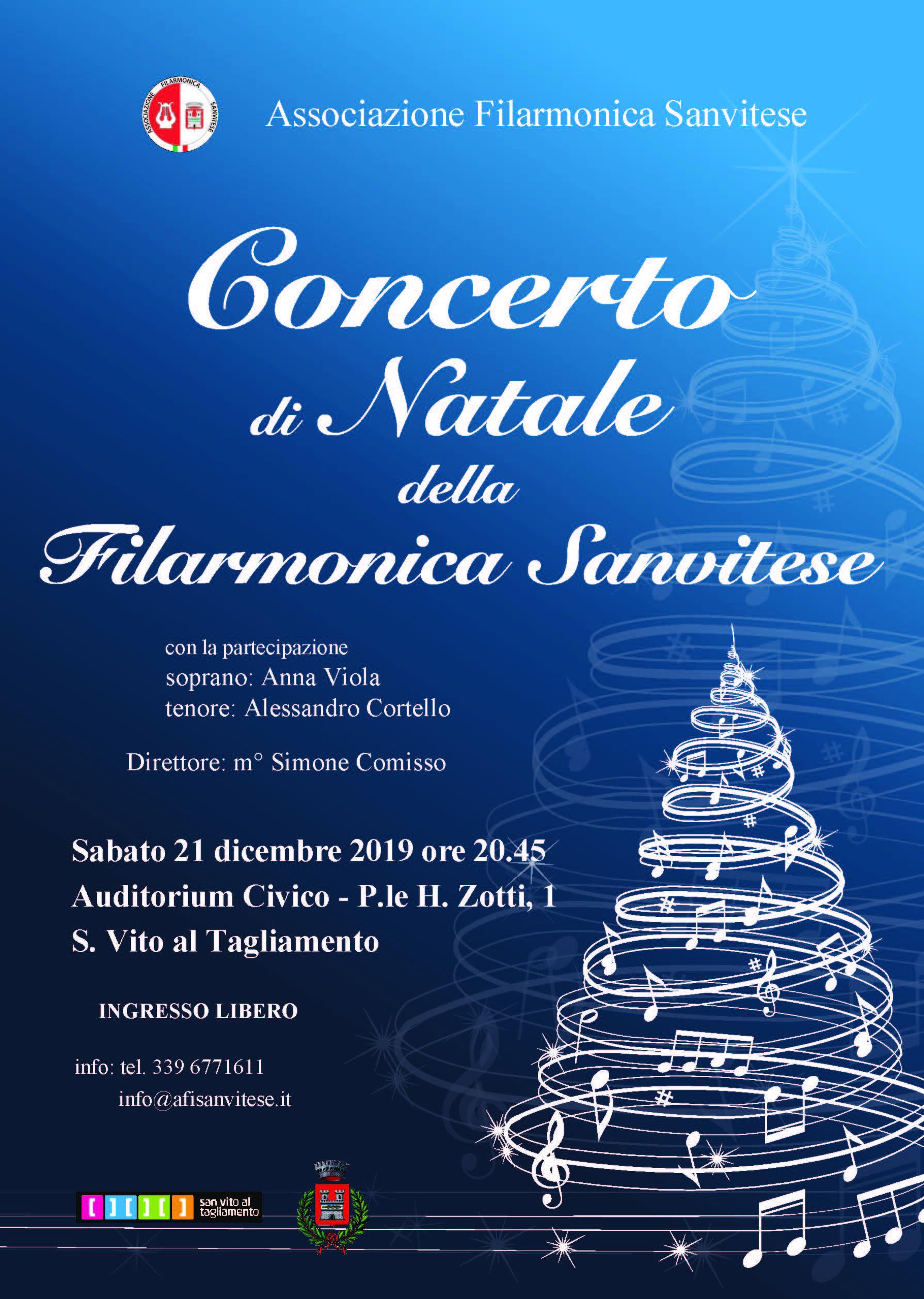 Concerto Di Natale.Concerto Di Natale 21 Dicembre A S Vito Al Tagliamento Anbima Regione Friuli Venezia Giulia